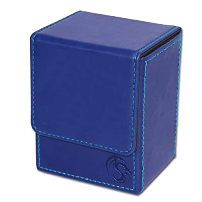 BCW Deck Case LX Leatherette | Holds 80 Sleeved Cards Blue 1-DCLX-BLU | (1-Unit): Toys & Games