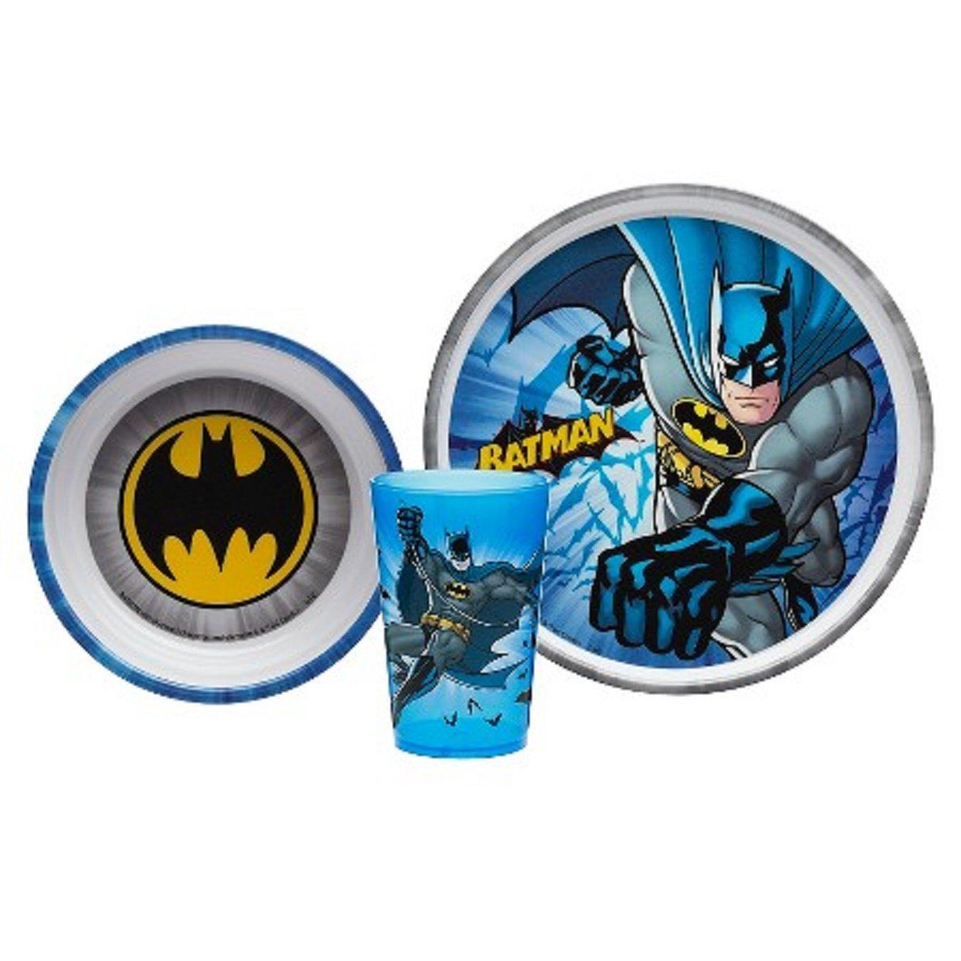 Designs Batman 3-piece Mealtime Set includes Plate Bowl and Tumbler BPA-free by Zak Designs Kitchen \u0026 Dining  sc 1 st  Amazon.com & Amazon.com: Zak! Designs Batman 3-piece Mealtime Set includes Plate ...