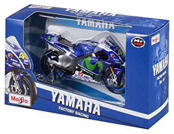 Maisto 34589 – 2015 Yamaha Factory Racing Team (#46), Escala 1:18, Color Azul