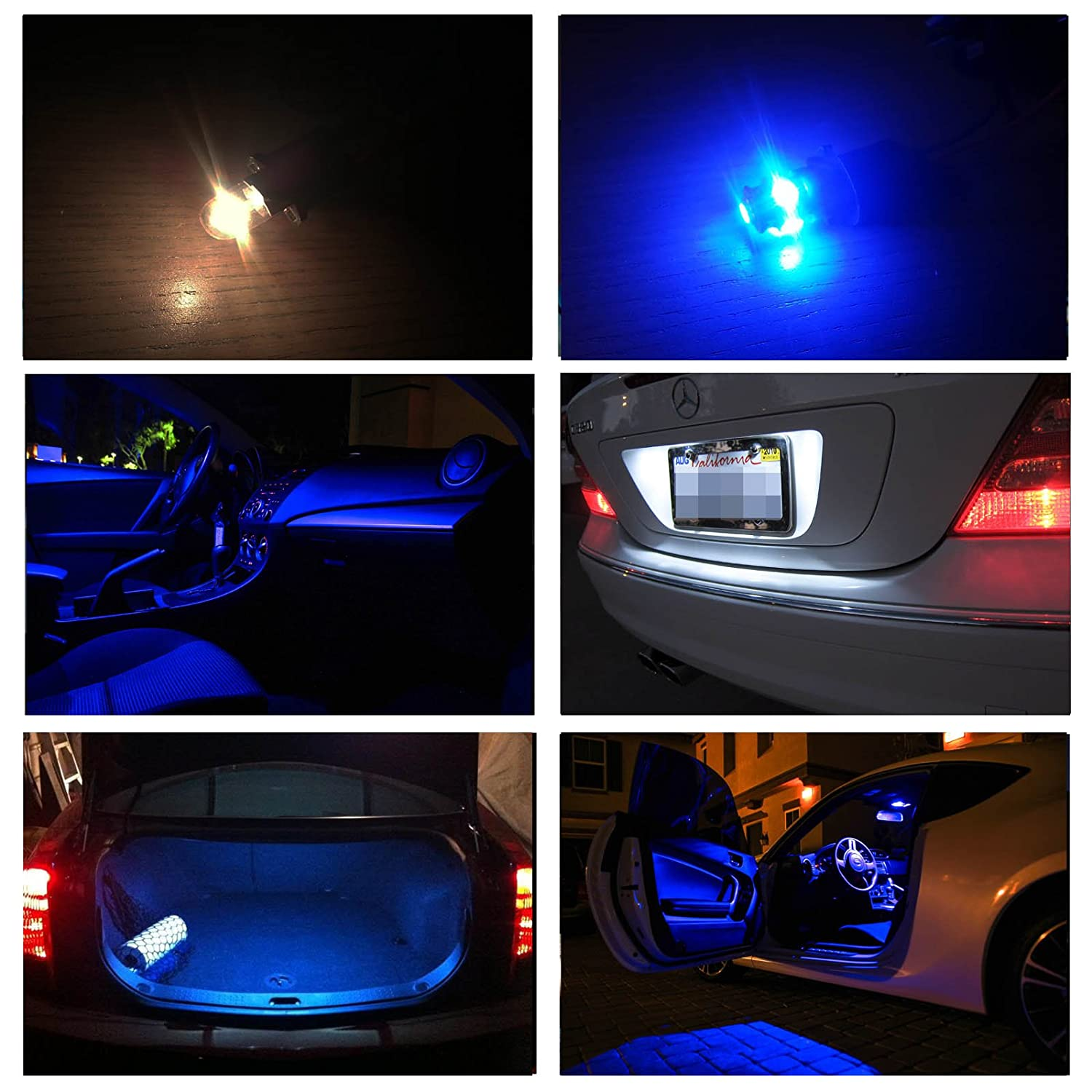 Ledpartsnow Hyundai Elantra 2011 Up Blue Premium Led 1982 Chevy Dome Light Wiring Schematic Interior Lights Package Kit 8 Pieces Automotive