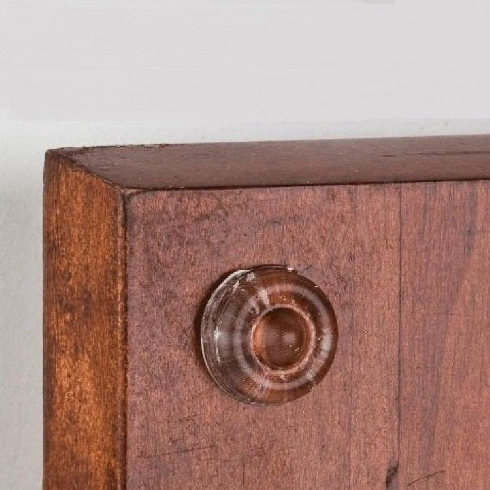 Berlin Modisch Overlay Cabinet Hinge 10 Pair (20 Units) Self-Closing Decorative, Face Mount, for Variable Overlay Kitchen Cabinet Doors Satin Nickel Finish, with Sound Dampening Door Bumpers by Berlin Modisch (Image #4)