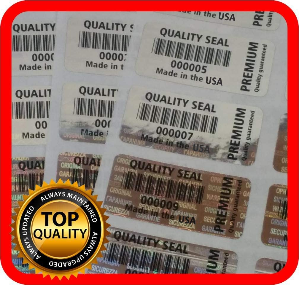Quality seal warranty tamper evident labels 32x15mm Security hologram stickers