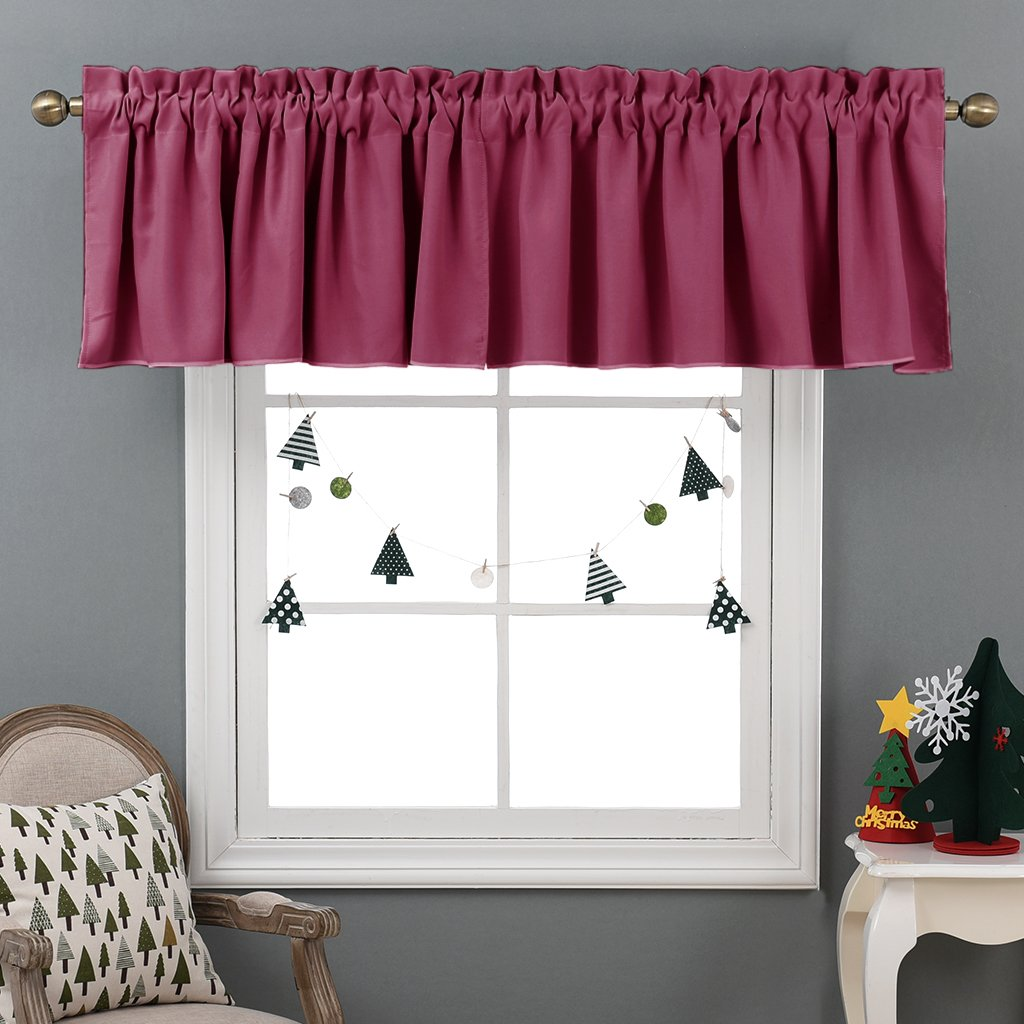 Nicetown Half Window Blackout Curtains- Rod Pocket Tailored Tier /Valance /Cafe Curtains
