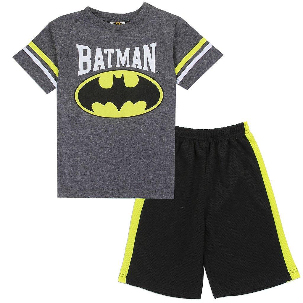 Batman Little Boys' Varsity Tee and Mesh Shorts Set