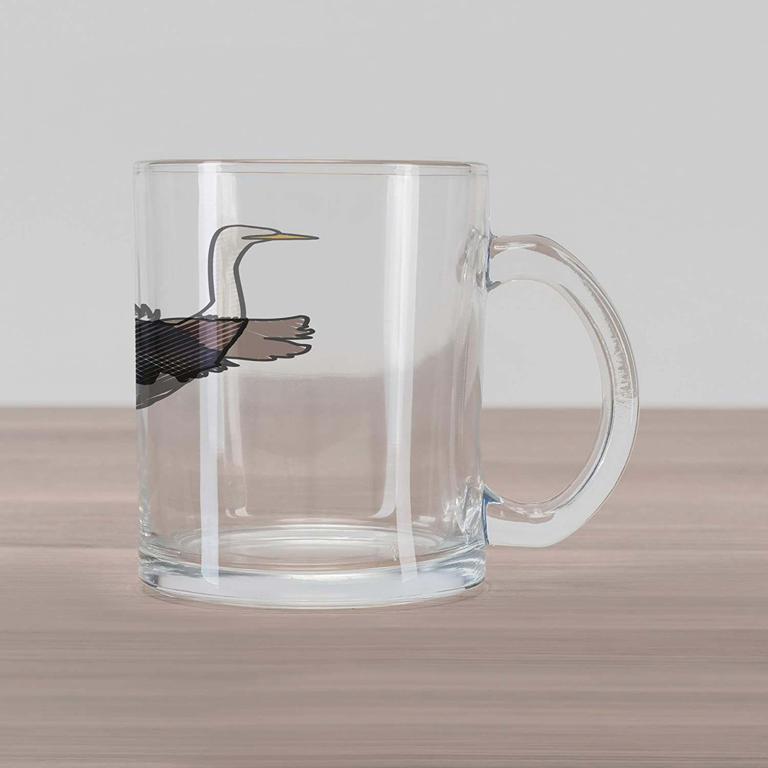 0146e387f5e Ambesonne Ostrich Glass Mug, African Savannah Mammal in Simplistic Striped  Zoo Wilderness Bird Pattern, Printed Clear Glass Coffee Mug Cup for  Beverages ...
