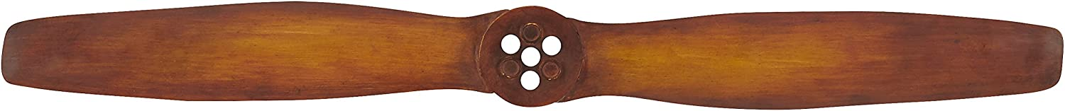 "Amazon Brand – Stone & Beam Vintage Airplane Propeller, 46.5""W, Brown"