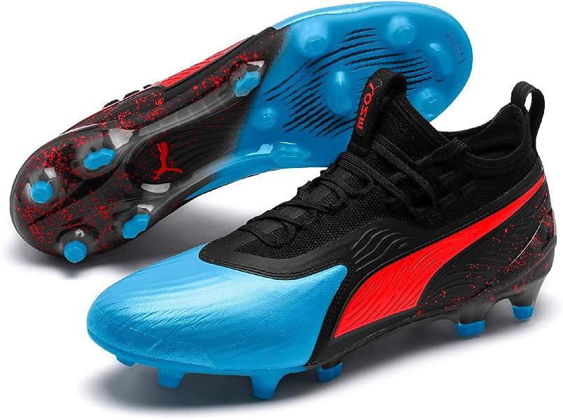 low priced 31b91 a1fbb Puma One 19.1 FG AG, Chaussures de Football Homme, (Bleu Azur-