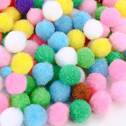 Gifort Pompon Colorati 1200pcs,1.5cm,Colori Assortiti Pompon per Forniture per Pom Poms Hobby e Fai da Te Creativo Mestieri Decorazione