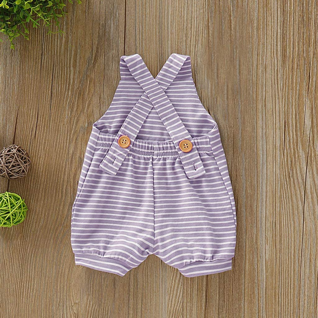 Xmiral Newborn Baby Girl Boy Stripe Backless Jumpsuit Infant Unisex Crossing Sling Romper Outfits