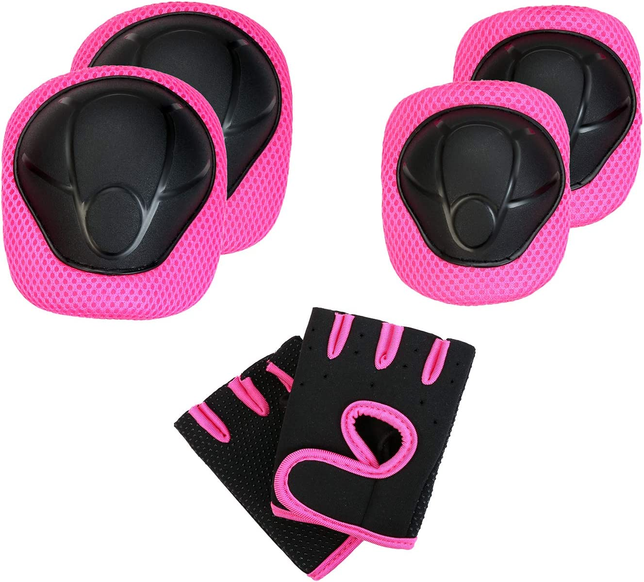 Childs Pad Set with Knee Elbow and Gloves for Biking Skating Riding Cycling Bike Rollerblading Scooter and Multi Sports Safety Protection EEDAN Kids Protective Gear