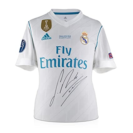 Sergio Ramos Signed 2017-18 Real Madrid Champions League Final Soccer Jersey