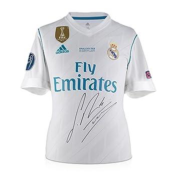 exclusivememorabilia.com Camiseta Final de la Liga de Campeones del Real Madrid 2017-18 firmada por Sergio Ramos: Amazon.es: Deportes y aire libre