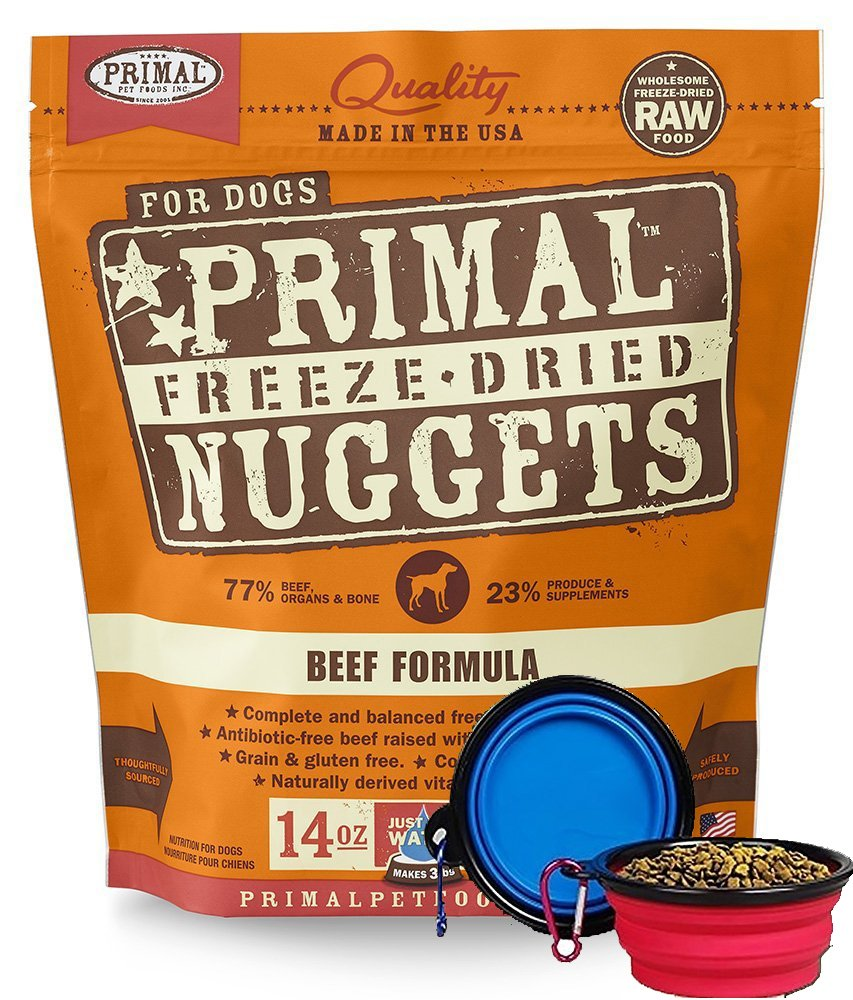 Primal Pet Food - Freeze Dried Dog Food 14-ounce Bag - Made in USA (Beef) by Primal
