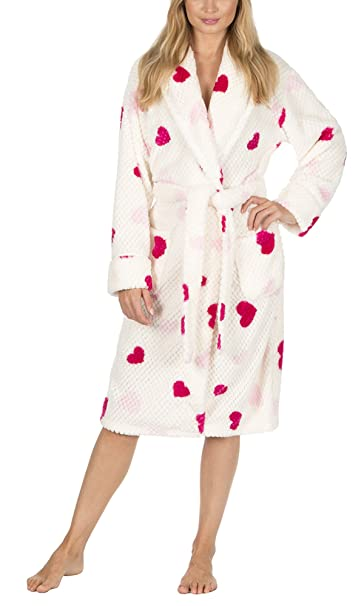 Ladies Hooded Housecoat Fleece Bath Robe Dressing Gown Soft Womens Size  8-22  Amazon.co.uk  Clothing 8220ad011