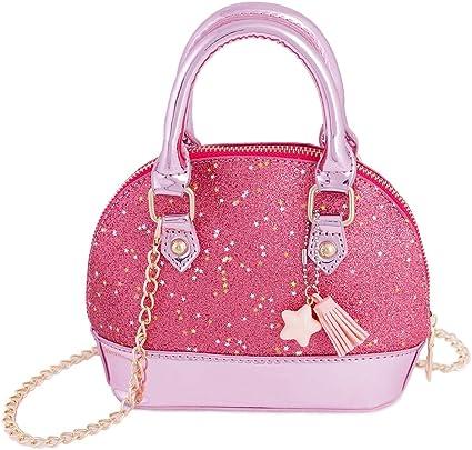 Charm Little Girls Purse Kids Cute Tassel Shoulder Bags Toddler Cross-body Y
