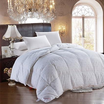 California King Down Comforter Duvet Insert White Goose Down Comforter Blanket 100 Cotton Cover Down