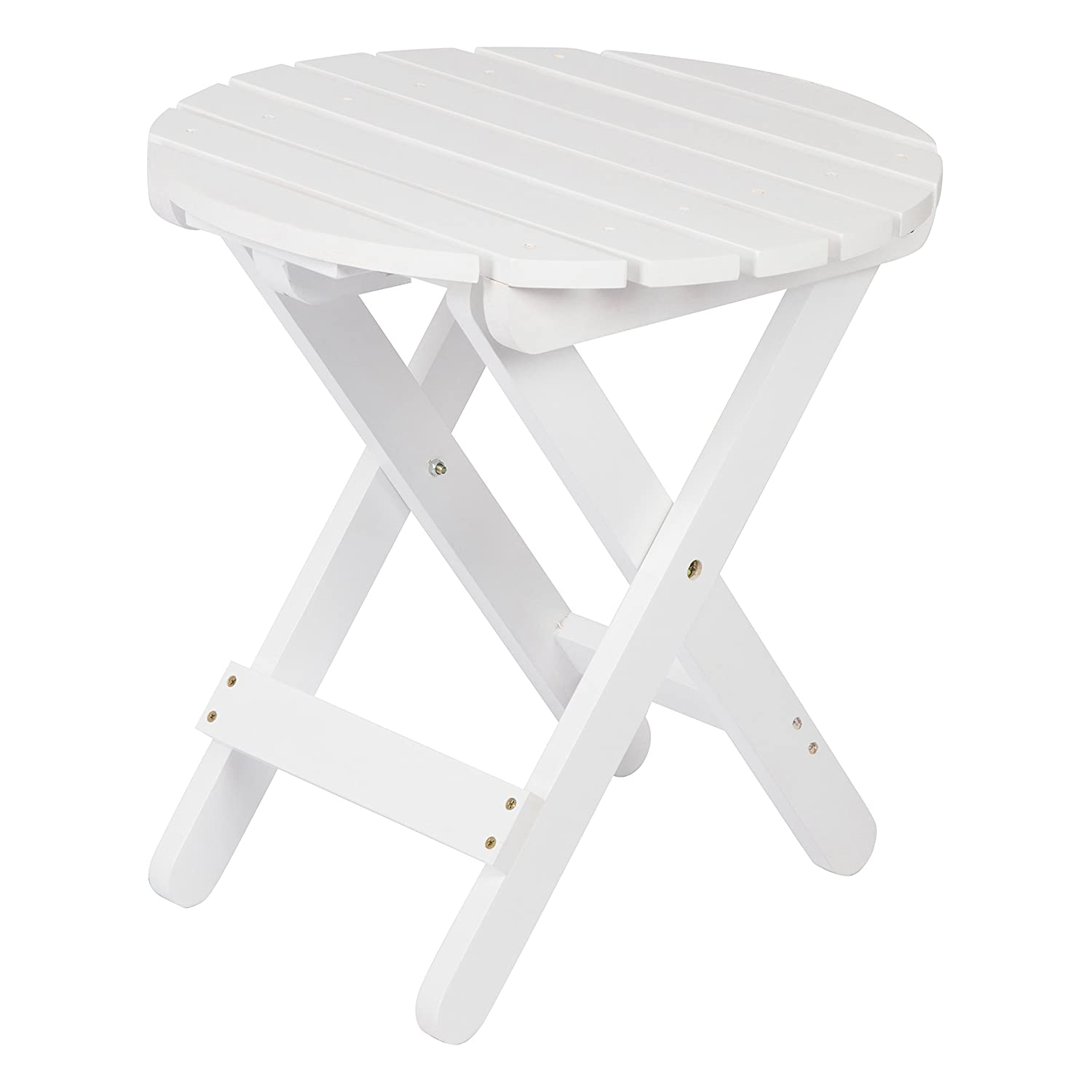 Shine Company 4108WT Adirondack Round Folding Table, White