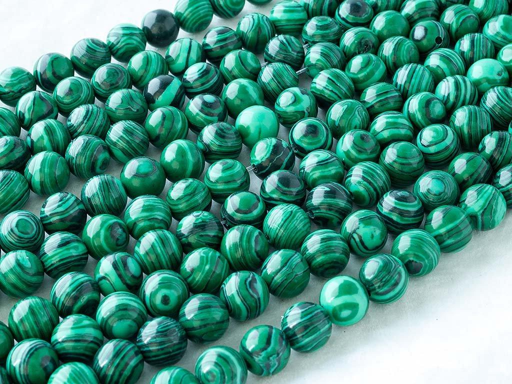 Abalorio Cerca de los 38cm un Tira. Malaquita Artificial S/íntesis Mostacilla o Chaquira De Grano de la joyer/ía DIY 12mm Cuenta Malachite, Artificial Synthesis, Round Bead Bola Beads Ok