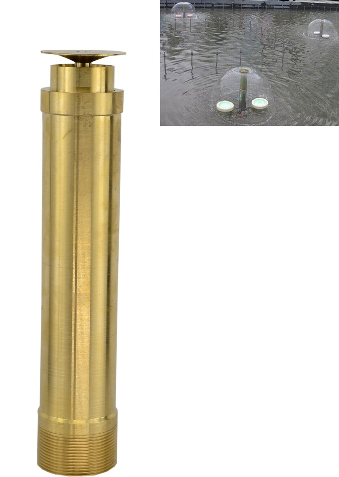 Brass Column Garden Square Fireworks Pool Pond Adjustable Fountain Nozzle Sprinkler Spray Head SSH330 (1-1/2 Inch)