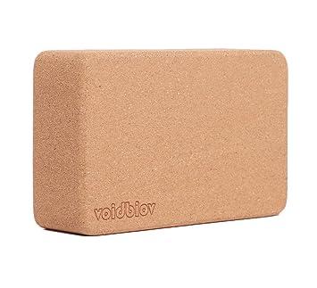 Juego de bloques de corcho para yoga 22,5 cm x 14,5 cm x 7,6 cm., 1 unidad