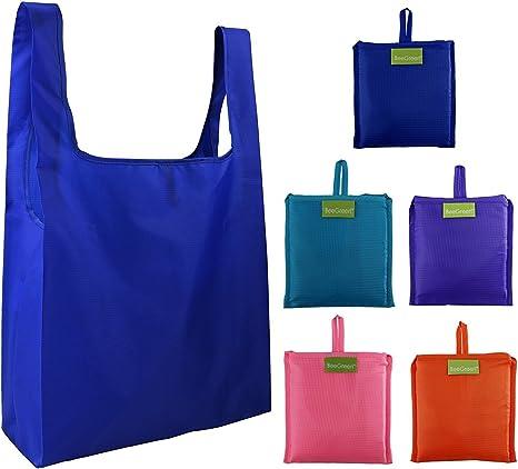 Amazon Com Paquete De 5 Bolsas Reutilizables Para Compras Kitchen Dining