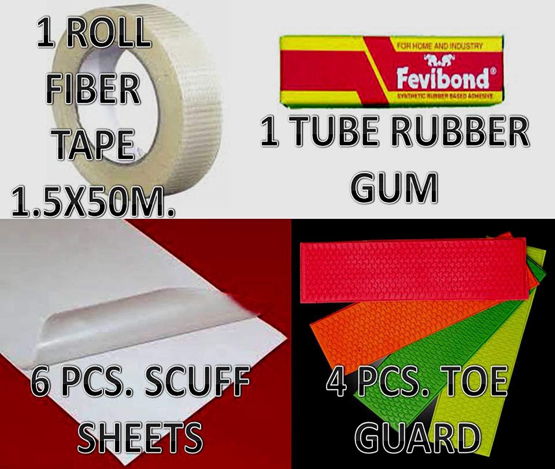 C2C 6X Scuff Sheet + 4X Toe Gaurd with Fiber Roll Cricket Accessories by C2C