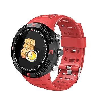 CHANG Reloj Inteligente, Deportes Bluetooth 4,2 IP68 Impermeable Smarts Relojes, Características-GPS Llamada Mensaje Recordatorio Podómetro Sleep Monitor ...