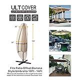 ULTCOVER Patio Umbrella Cover - 600D Waterproof