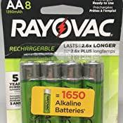 Amazon.com: Rayovac Rechargeable AAA Batteries