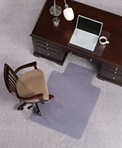 """Mat Depot Premium Beveled Edge Chair Mat, With Lip, 45 x 53 inches, 1/4"""" Thick, Clear"""