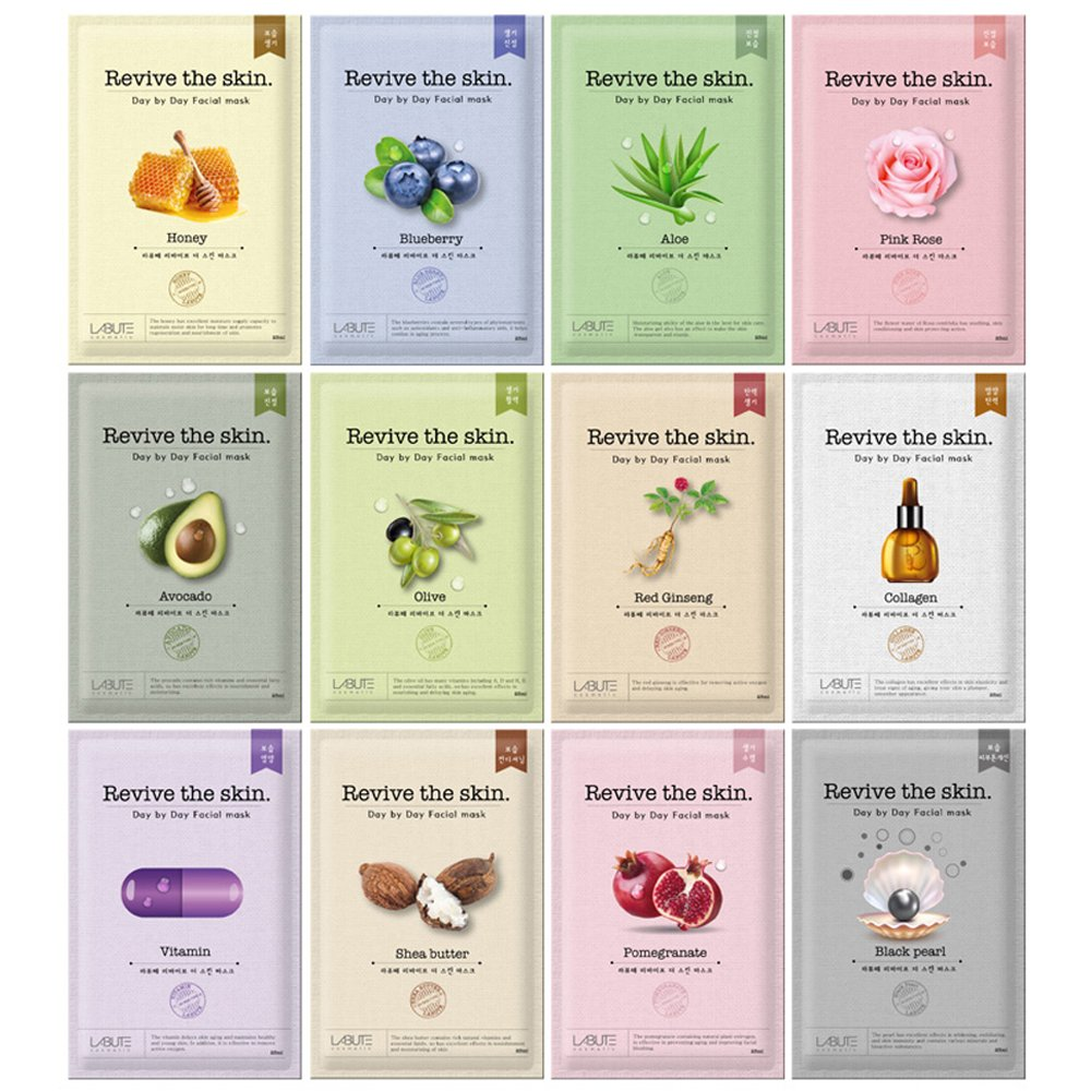 LABUTE Revive The Skin Mask Sheet (12 kinds mask sheet (12EA))