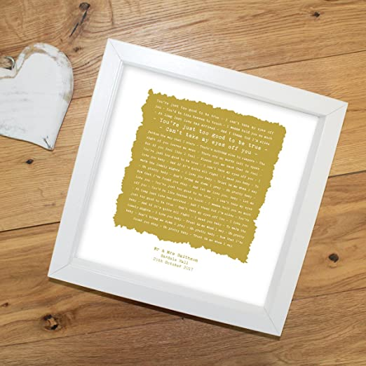 Gift Song Words LYRICS print Frankie Valli Can/'t Take My Eyes Off You