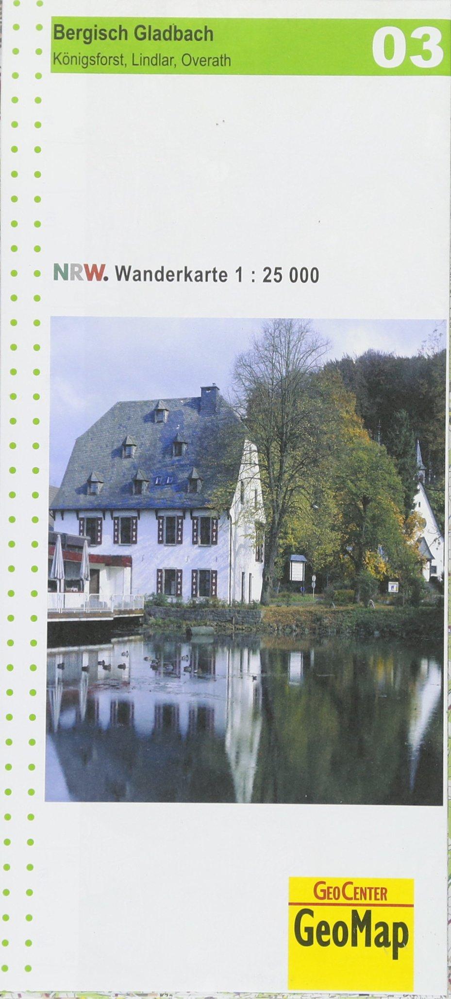 Wanderkarte Nordrhein Westfalen 03 Bergisch Gladbach 1 25 000