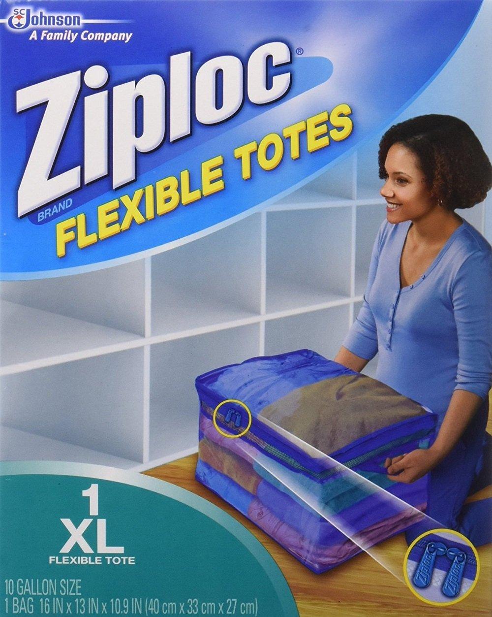 Ziploc Flexible Totes pzxdVC, X-Large 9 Pack