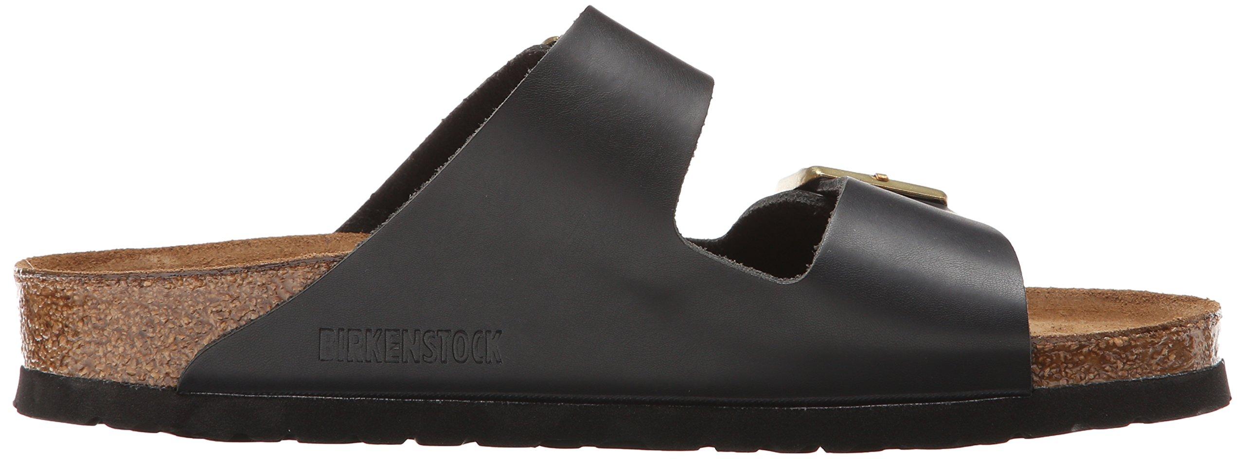 Birkenstock Unisex Arizona Hunter Black Leather Sandals - 9-9.5 2A(N) US Women/7-7.5 2A(N) US Men by Birkenstock (Image #7)