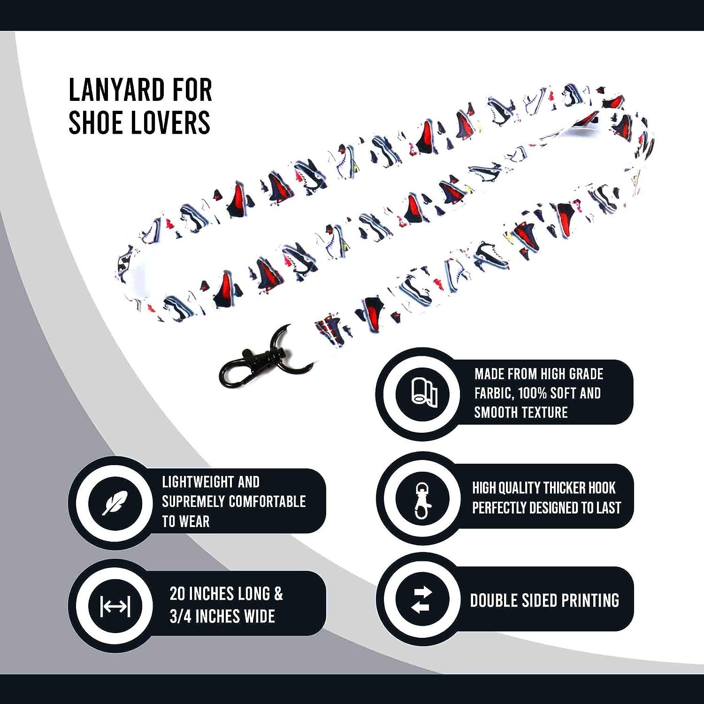 Jordan Shoemoji Lanyard Keychain w/Clasp - Sports ID Lanyard for Keys Badges Name Tag Whistle - Street Fashion ID Holder Keychain for Sneakerhead ...