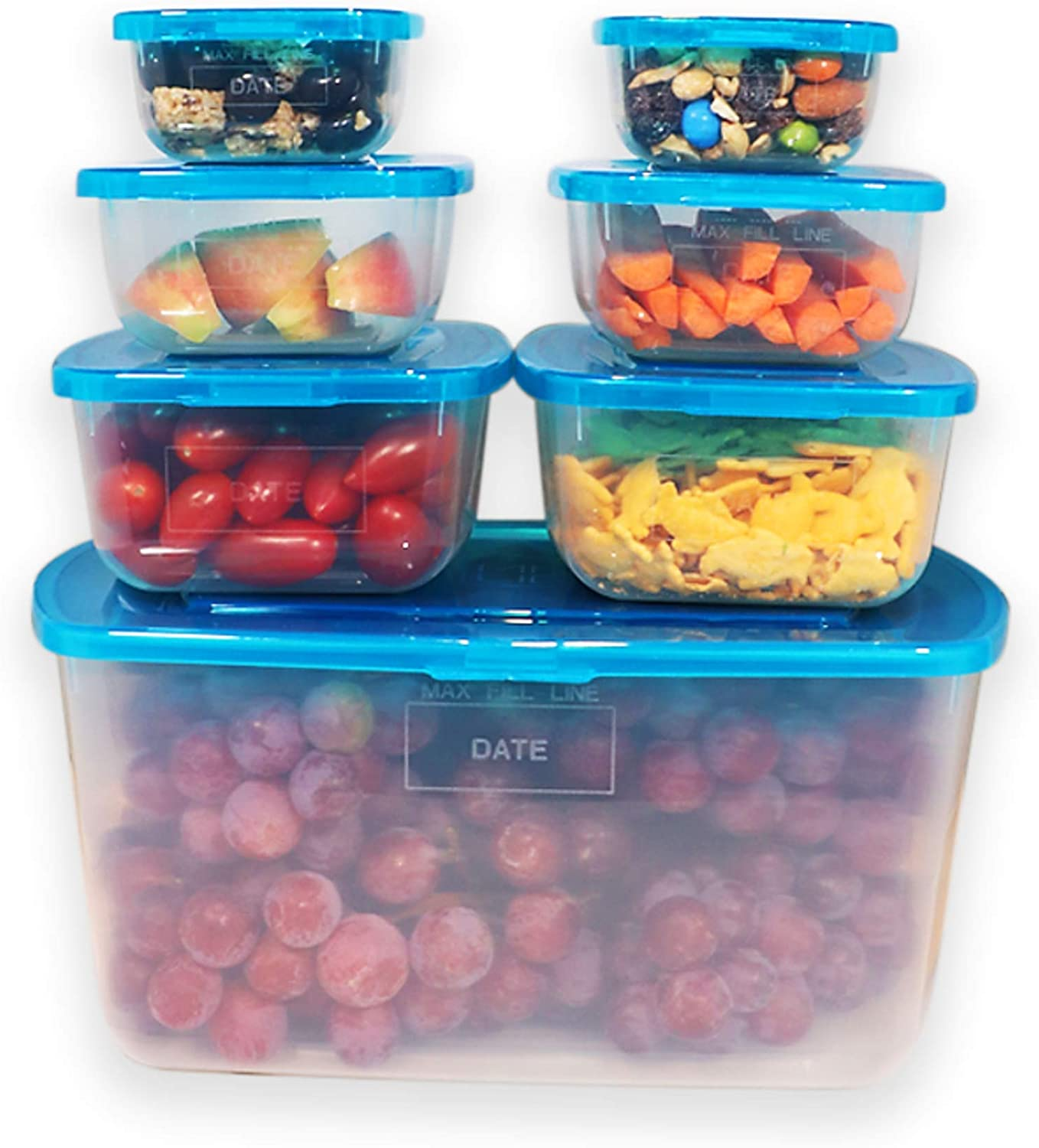 Mr. Lid Premium Attached Storage Containers | Permanently Attached Plastic Lid, Never Lose | Space Saving