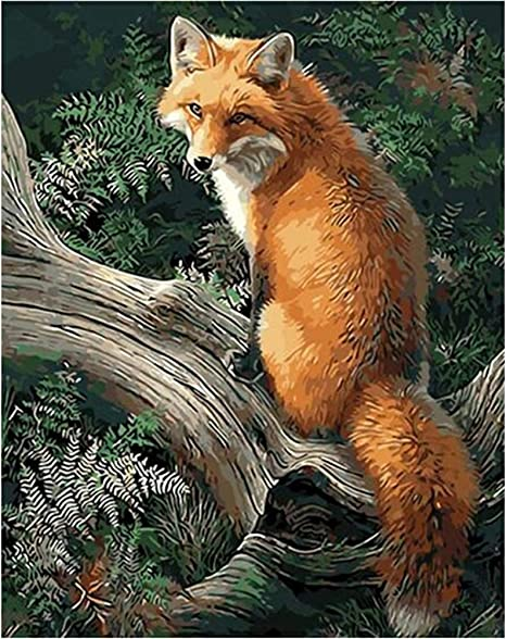Fox Reading Diamond Painting Lovely Portrait Design Embroidery DIY Wall Displays