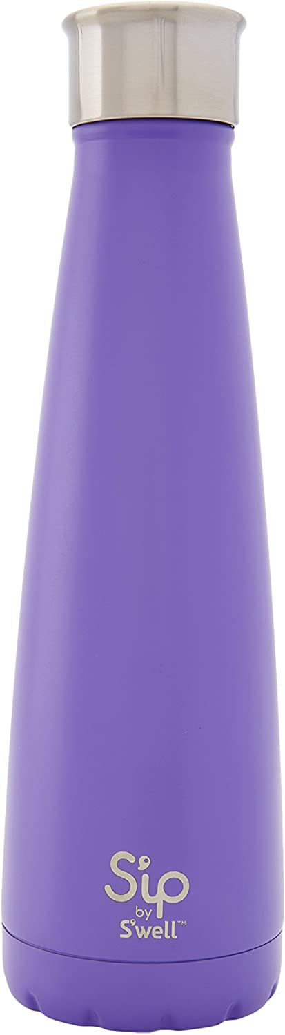 S'well Stainless Steel Bottle-15 Fl Oz Purple Rock Candy-Double-Layered Vacuum-Insulated Keeps Food and Drinks Cold and Hot-with No Condensation-BPA Free Water Bottle, 15oz
