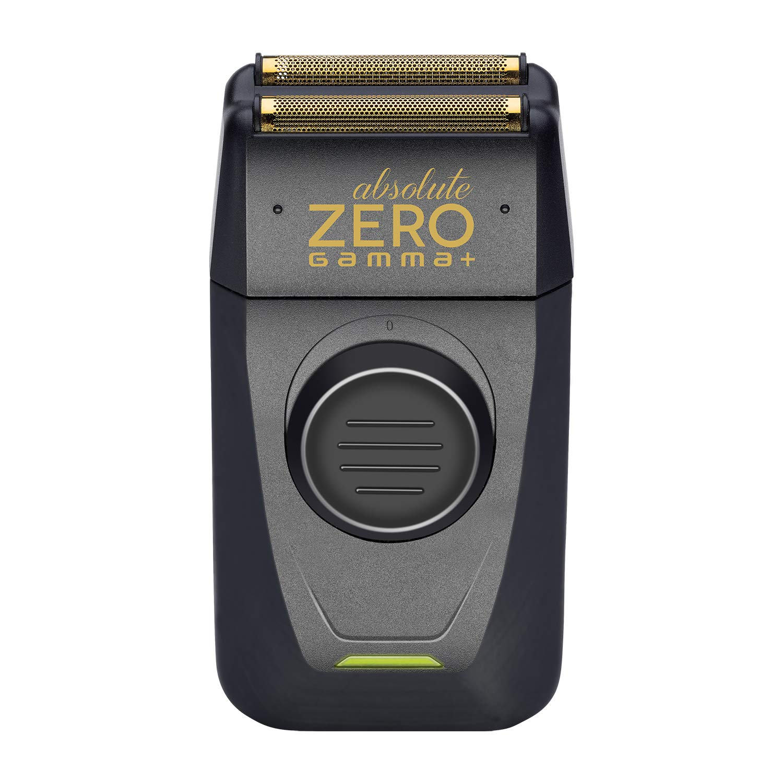 Gamma+ Absolute Zero Cordless Foil Shaver, Retractable Trimmer, USB, Travel, Gentle Electric Razor