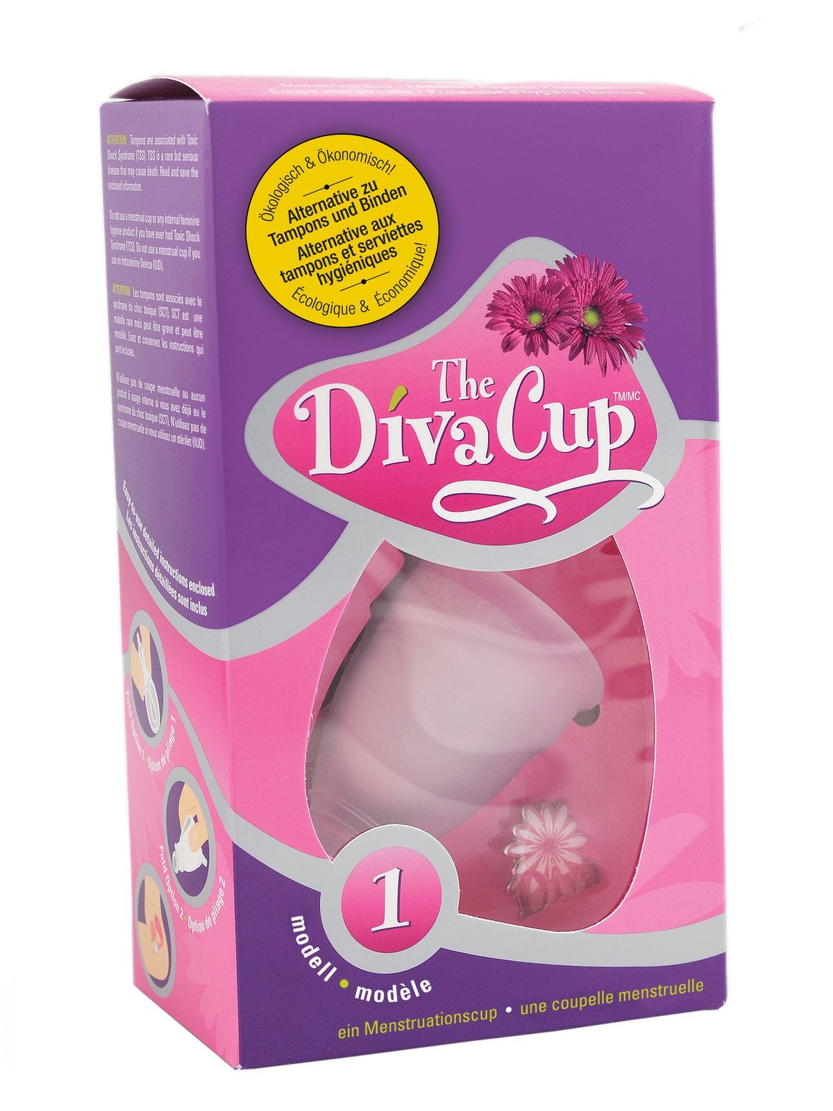 Diva Menstrual Cup, Model 1 Pre-Childbirth - 1 Ea, 8 Pack