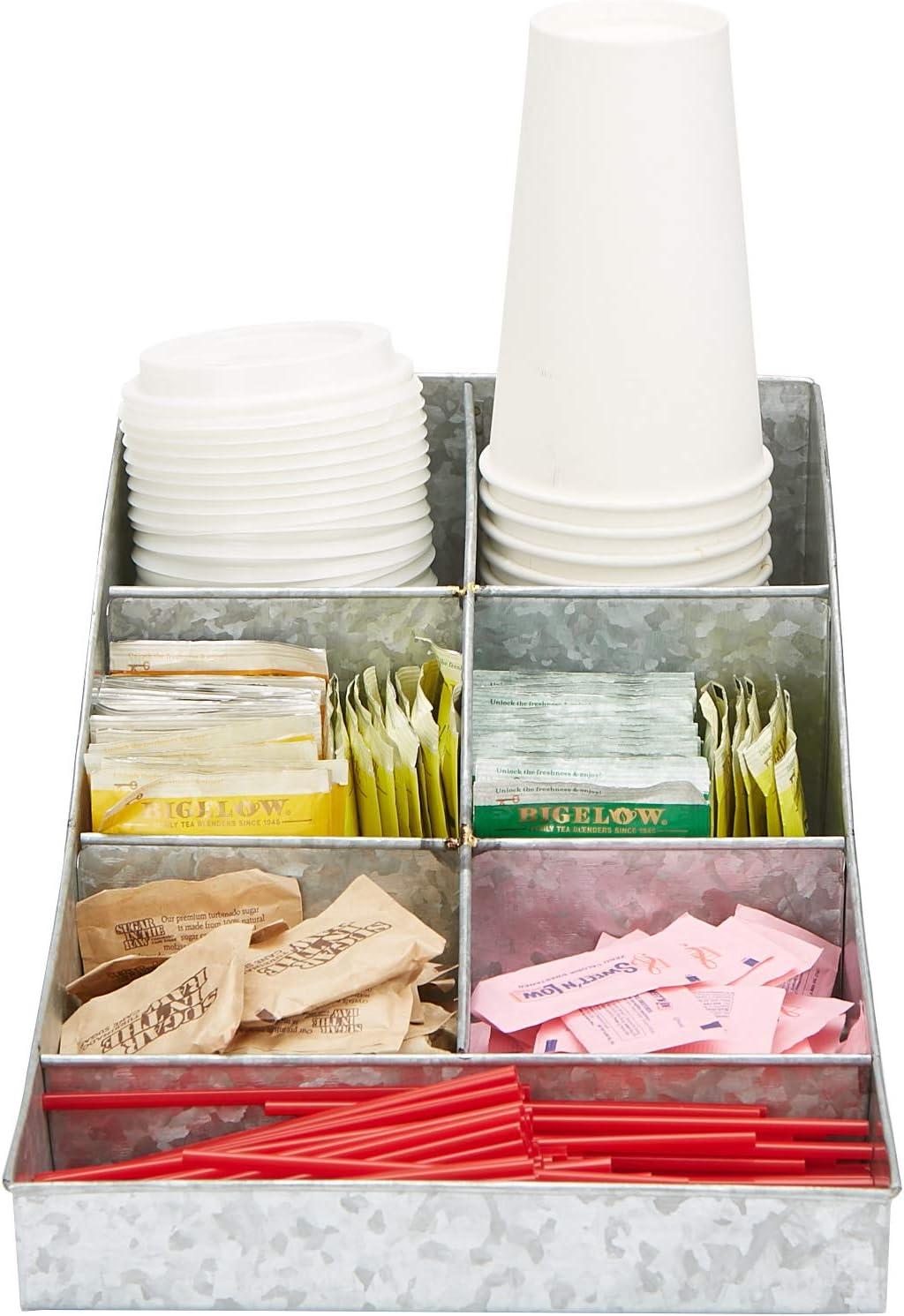 Mind Reader Trove Coffee condiment organizer, One Size, Silver Metal