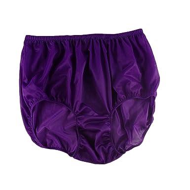 Deep Purple High Waist Panties Briefs Sheer Nylon Underwear for Women   Men  Plus Size ( 42c0f88b4