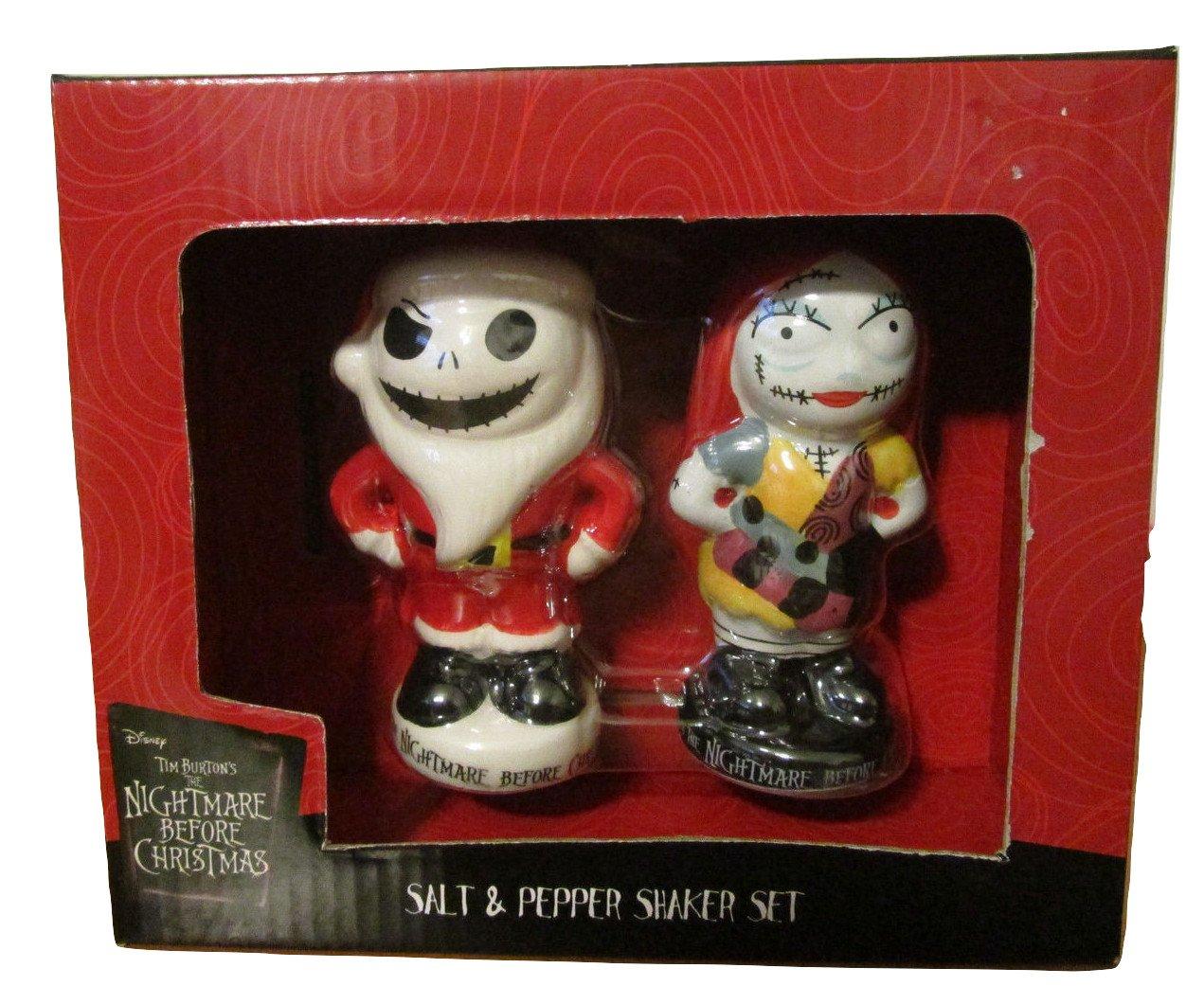 Amazon.com: Disney Nightmare Before Christmas Salt and Pepper Shaker ...
