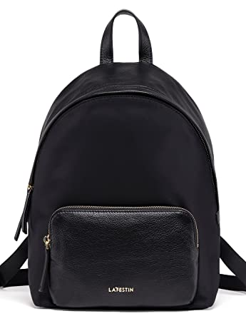 Amazon.com  LA FESTIN Black Leather School Backpacks for Women Stylish  Casual Daypack - A4 Size Available  LAFESTIN 6ab49e740c630