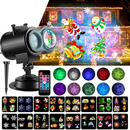 Amazon.com: SOMKTN Luces de proyector LED de Navidad ...