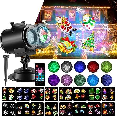 SOMKTN Proyector de luces LED de Navidad, proyector de luz para ...