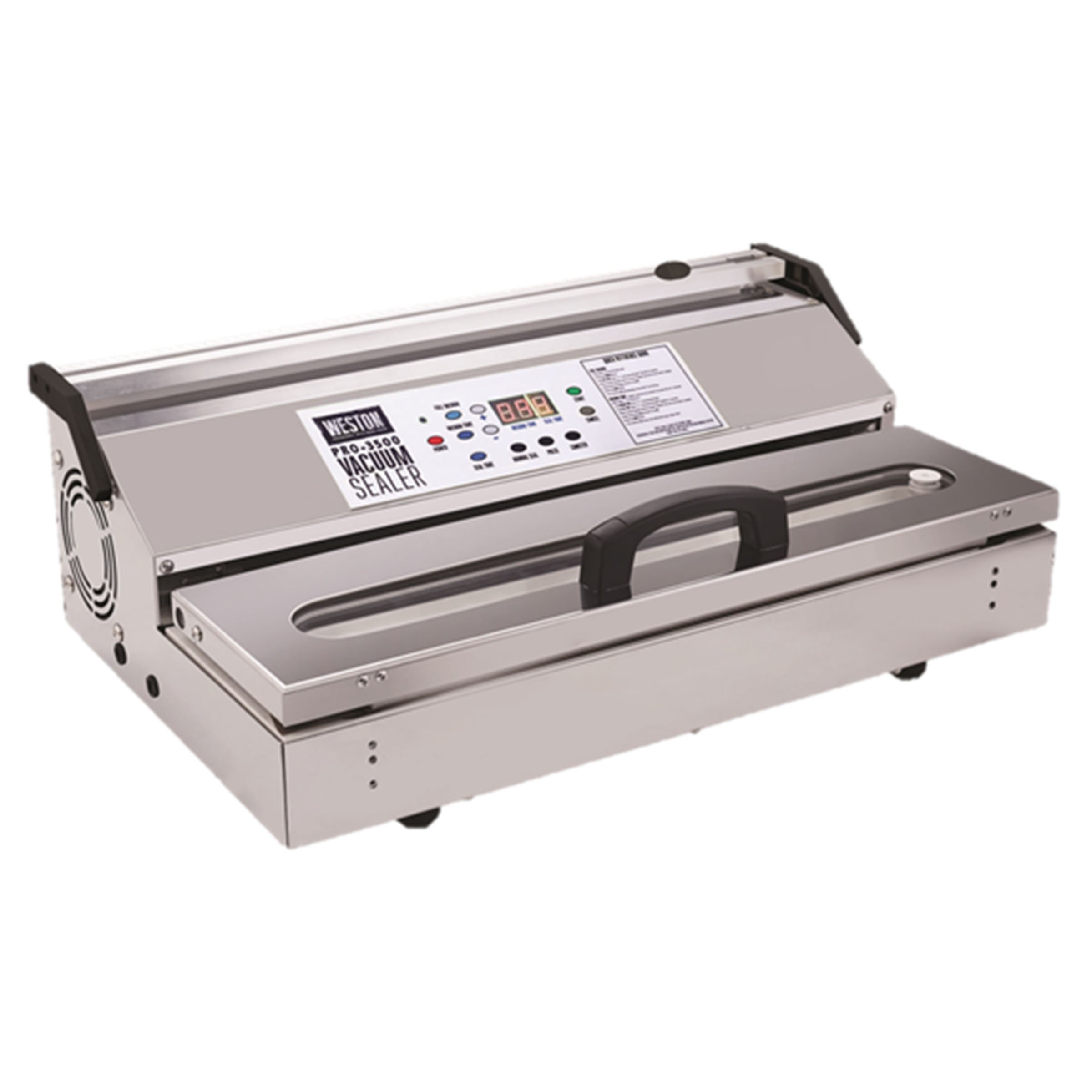 Weston 65-0901-w Pro-3500 Commercial Grade Vacuum Sealer, 15'' bar, Stainless Steel