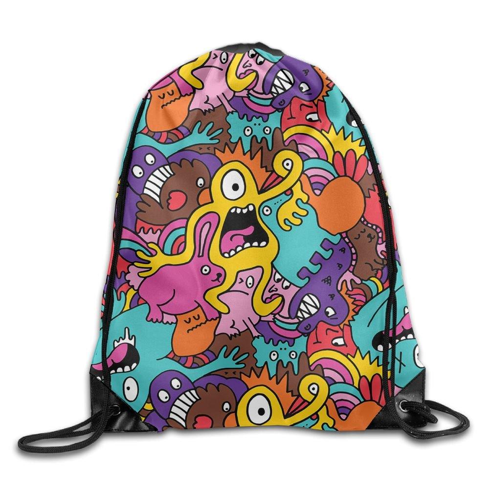 AdmrユニセックスAlien Monsters Basicsクラシック軽量巾着ジム袋バッグバックパックのハイキング水泳ヨガ B076P99GSG