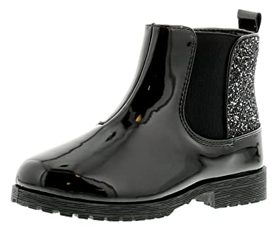 4607c422116 Buckle My Shoe Rodden Girls Synthetic Material Ankle Boots Black Patent